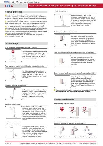 Operation manual of DMP305X series