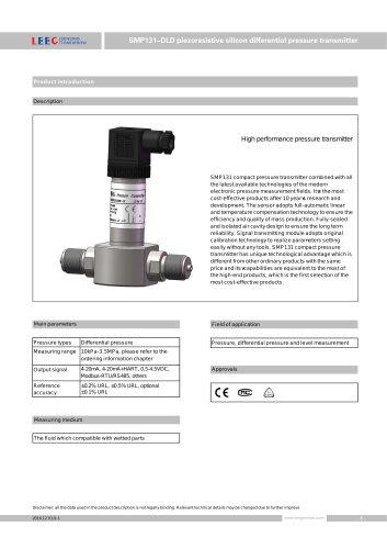 SMP131-DLD compact differential pressure sensor