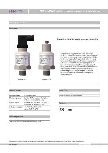 SMP131-TCD Ceramic pressure sensor