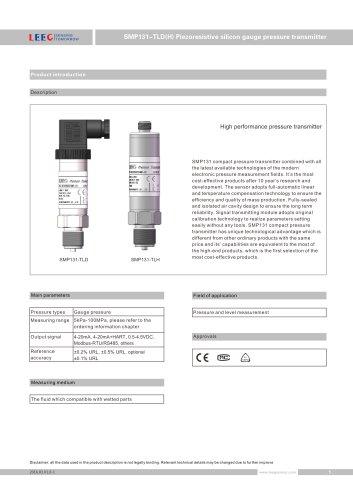 SMP131-TLD(H) Compact gauge pressure sensor