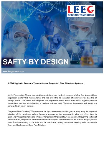 Successful case: LEEG Hygienic Pressure Transmitter for Pharmacy Industry