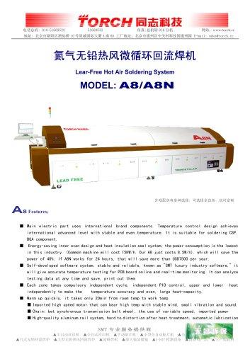 Conveyor  Hor air Reflow Oven 8 zones A8