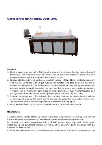 Conveyor hot air Reflow Oven 4 zones