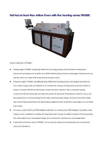 Conveyor Reflow Oven 5 zones
