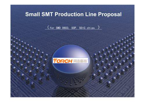 Desktop Automatic SMT production line for SMD component