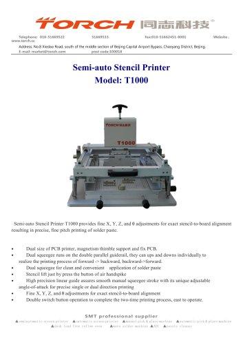 Manual  Stencil Printer T1000