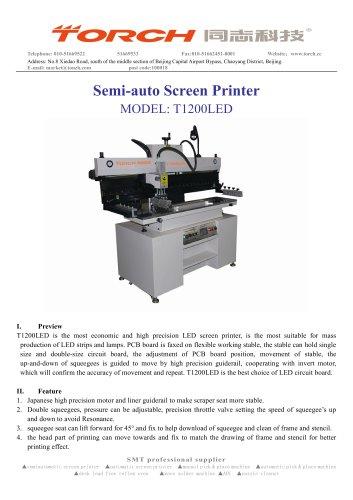 Semi-auto LED Stencil Printer T1200LED