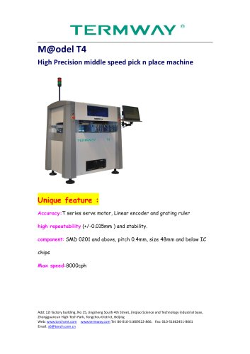 SMT Torch pick and place machine T4