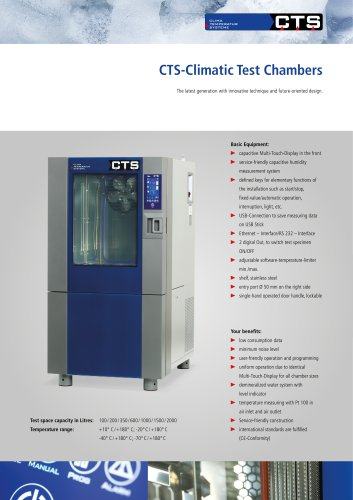 CTS Climatic Test Cabinets