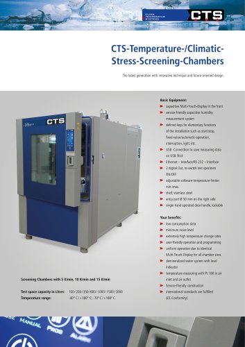 CTS-Temperature-/Climatic- Stress-Screening-Chambers