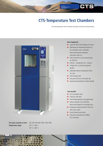 CTS Temperature Test Chambers