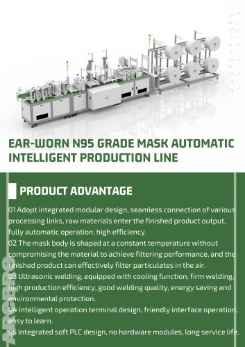 EAR-WORN N95 GRADE MASK AUTOMATIC INTELLIGENT PRODUCTION LINE