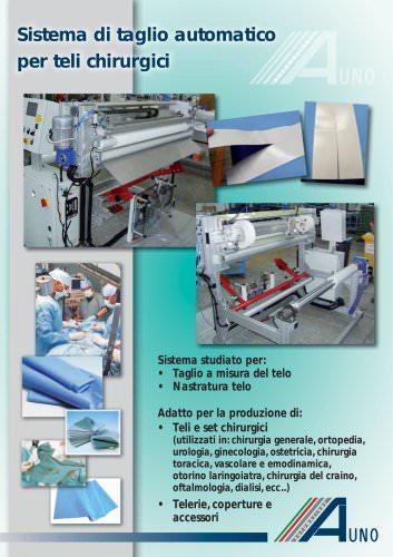 Sistema di taglio automatico per teli chirurgici