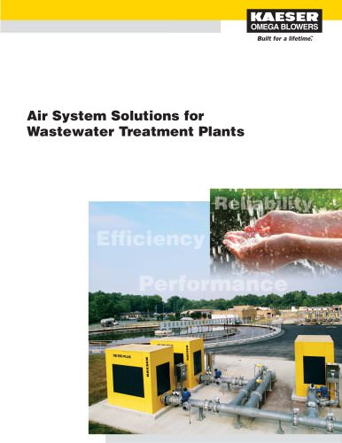 Air Systems Solutions for Wastewater Treatment Plants