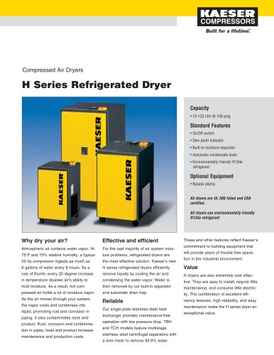 H Series - Refrigerated Dryer