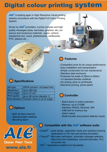 Digital colour printing system