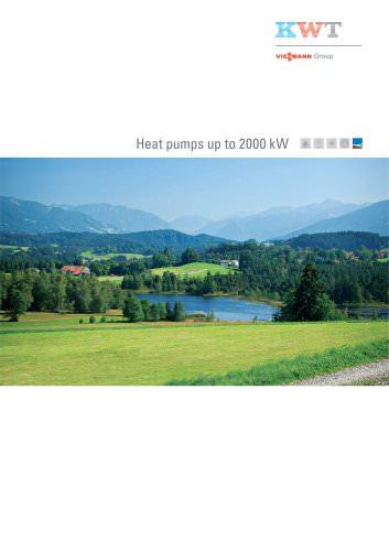 Heat pumps up to 2000 kW