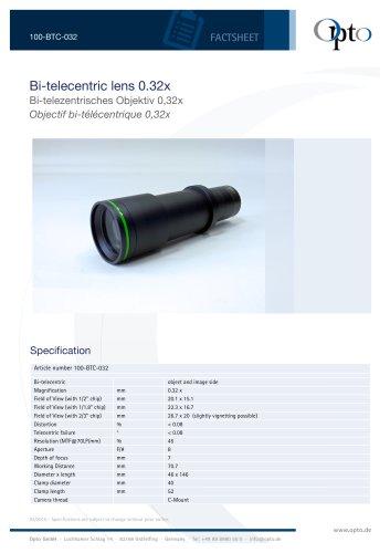 Bi-telecentric Lens 0.32x