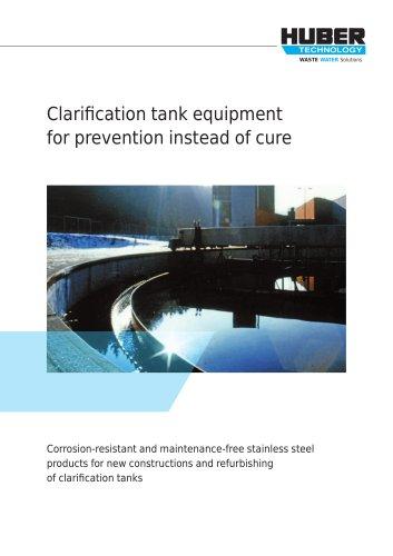 Equipment in Stainless Steel: Clarification Tank Equipment
