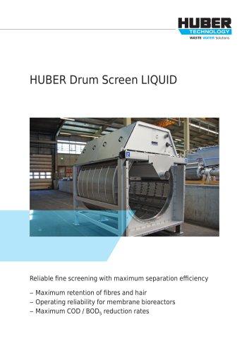 HUBER Drum Screen LIQUID
