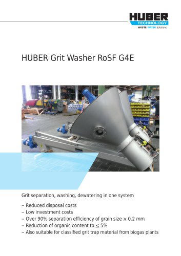 HUBER Grit Washer RoSF G4E