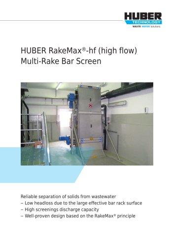HUBER RakeMax®-hf (high flow) Multi-Rake Bar Screen