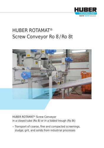 HUBER ROTAMAT® Screw Conveyor Ro 8 /Ro 8t