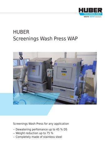 HUBER Screenings Wash Press WAP