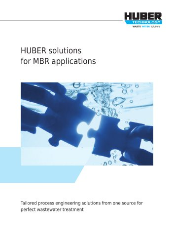 HUBER solutions for MBR applications