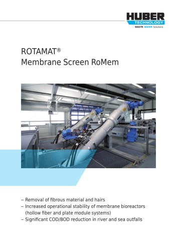 ROTAMAT® Membrane Screen RoMem