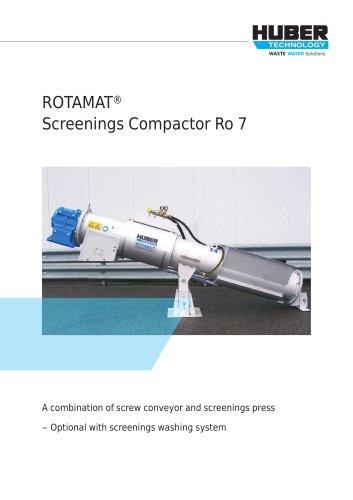 ROTAMAT® Screenings Compactor Ro 7