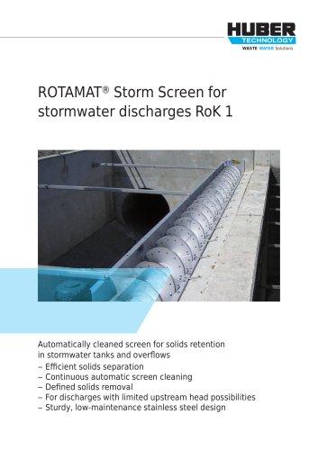 ROTAMAT® Storm Screen for stormwater discharges RoK 1