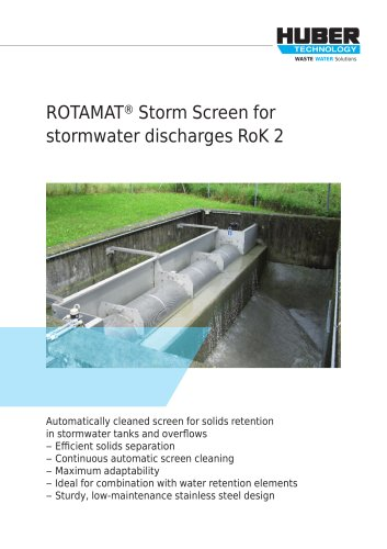 ROTAMAT® Storm Screen for stormwater discharges RoK 2