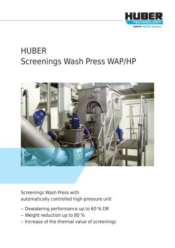 Screenings Wash Press WAP/HP