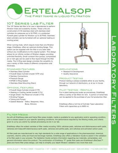 10T Lab Filter Tech Sheet