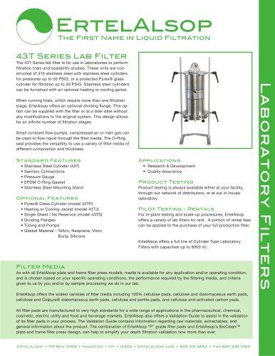 43T Lab Filter Tech Sheet