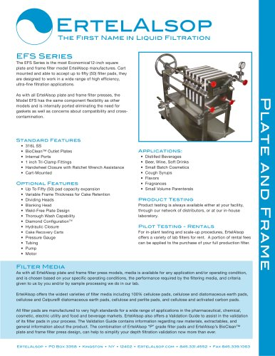 EFS Plate and Frame Filter