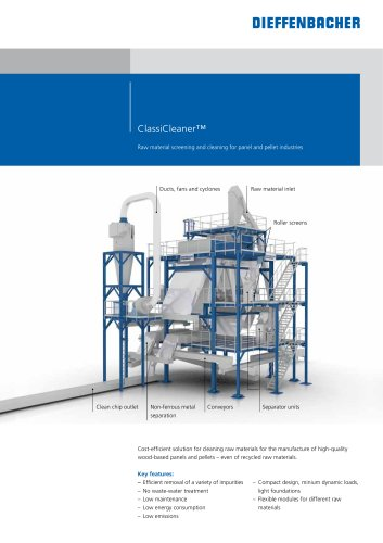 ClassiCleaner? Raw material screening and cleaning for panel and pellet industries