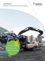 Lokotrack® mobile crushing and screening plants