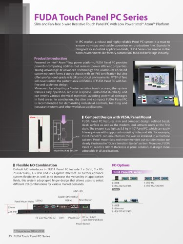 FUDA Touch Panel PC Series
