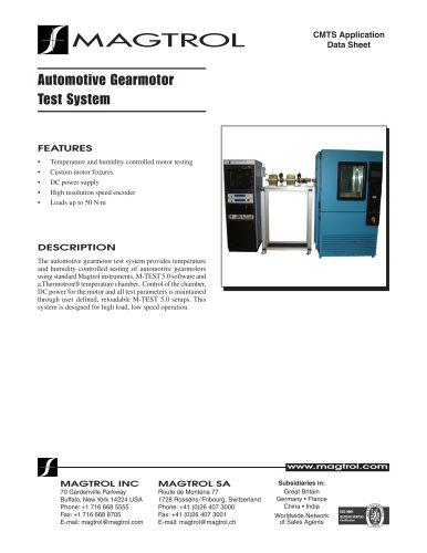 Automotive Gearmotor Test System