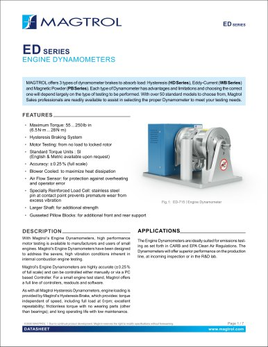 ED Series | Engine Dynamometers