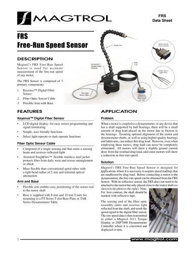 Free-Run Speed Sensor