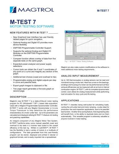 M-TEST 7 | Motor Testing Software