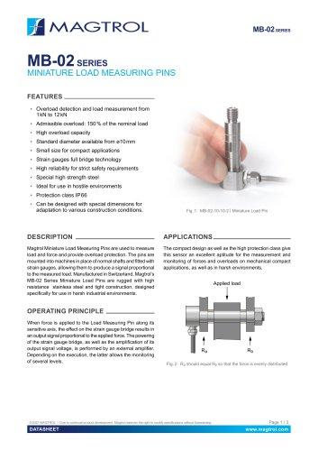 MB-02 Series | Miniature Load Measuring Pins