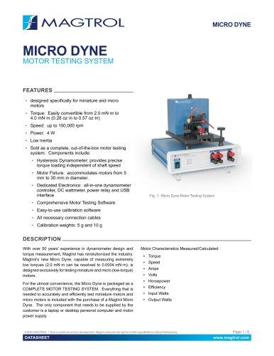 Micro Dyne | Motors Testing System
