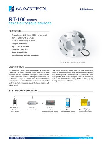 RT 100 Series | Reaction Torque Sensor