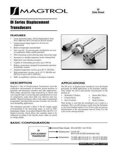 DI Series Displacement Transducers