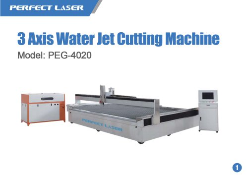 3 Axis Water Jet Cutting Machine