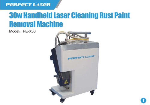 30w handheld laser cleaning rust paint removal machine